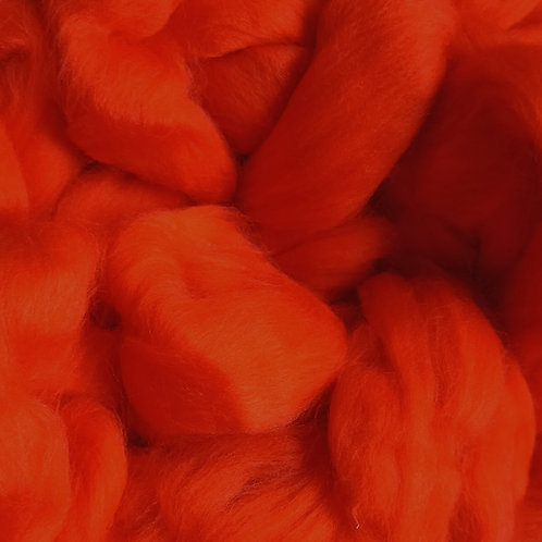 """Merino solid dyed top - """"Spice"""""""