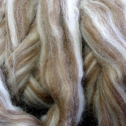 Finnish wool roving, natural blend