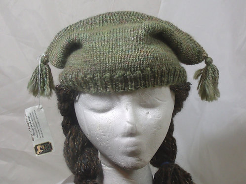 Pigtail Toque - green