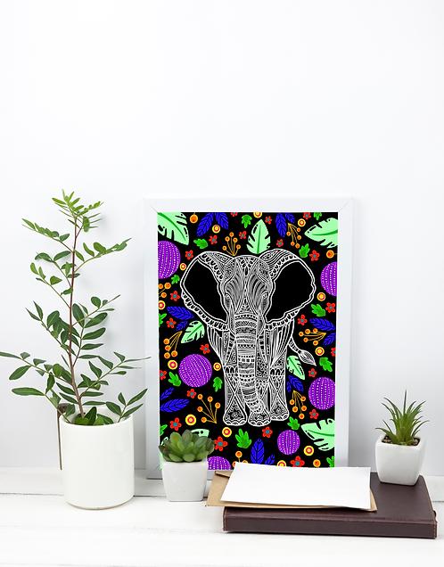 A4 Print - Elephant