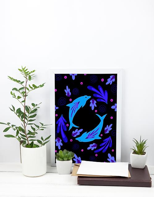 A4 Print - Dolphin
