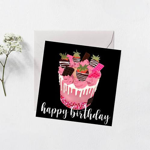 Birthday Card - Cake