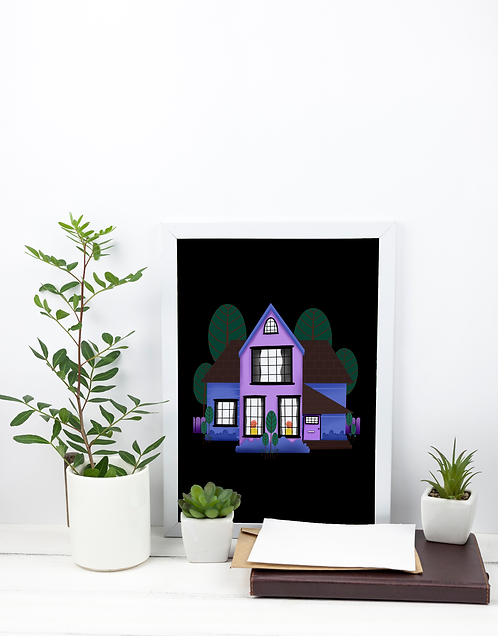A4 Print - Purple House