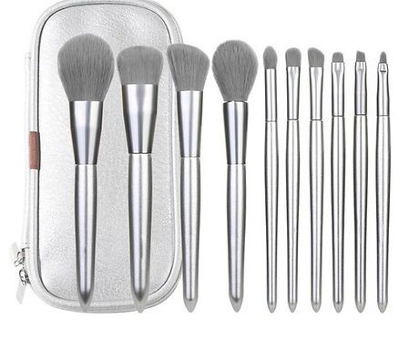 Metallic Silver Brush Set