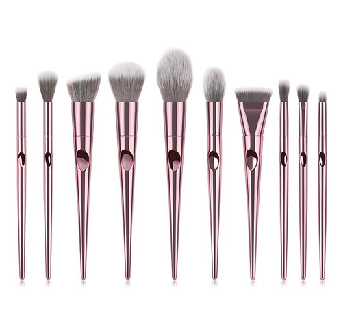 Pink Chrome Brush Set