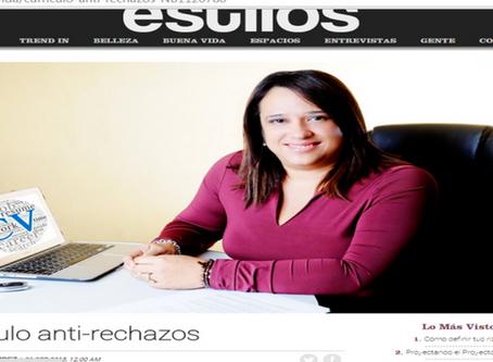 Revista Estilos- Currículo anti-rechazos