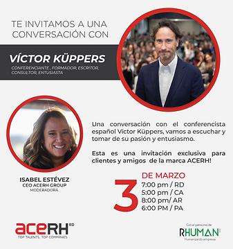 Invitacion - Victor Kuppers - página web