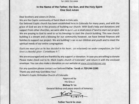 New Church Fundraising Effort