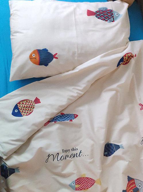 Комплект постельного белья «Рыбы» , сатин