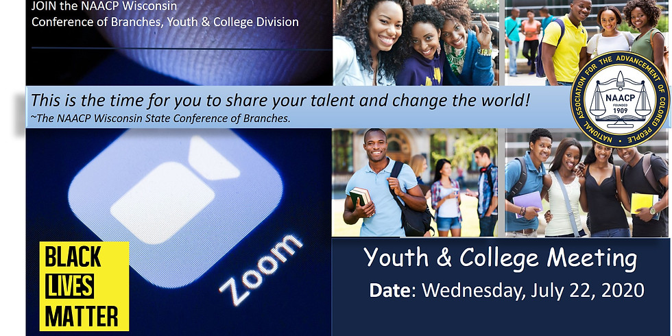 Youth & College ZOOM CALL   July 22, 2020