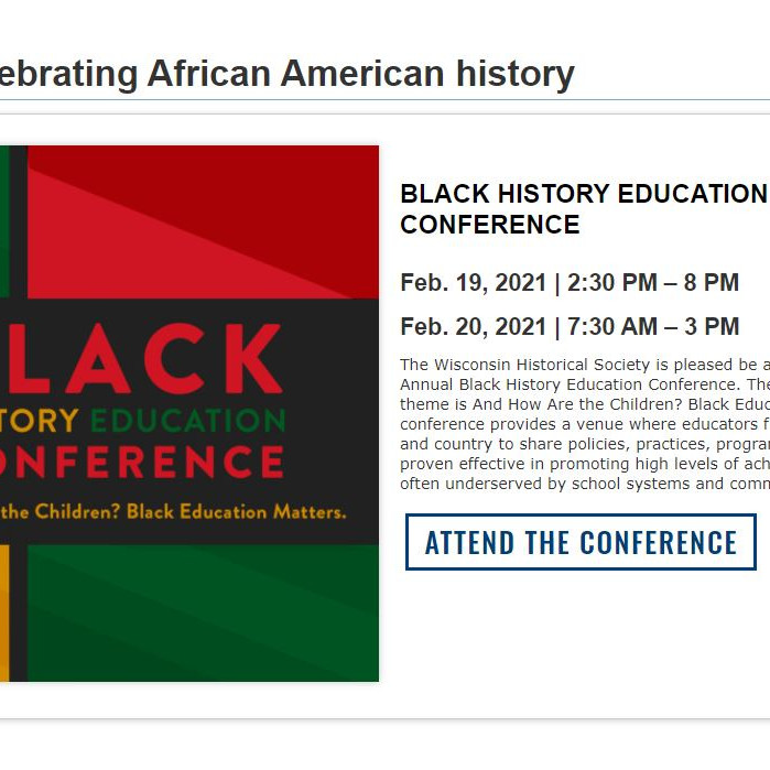 BLACK HISTORY EDUCATION ONLINE CONFERENCE