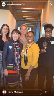 Surrounded by great panelists/speakers at the Wine Women Education Forum