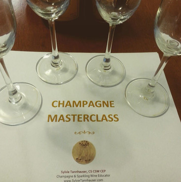 Conducted a Champgne Masterclass for 40 attendees