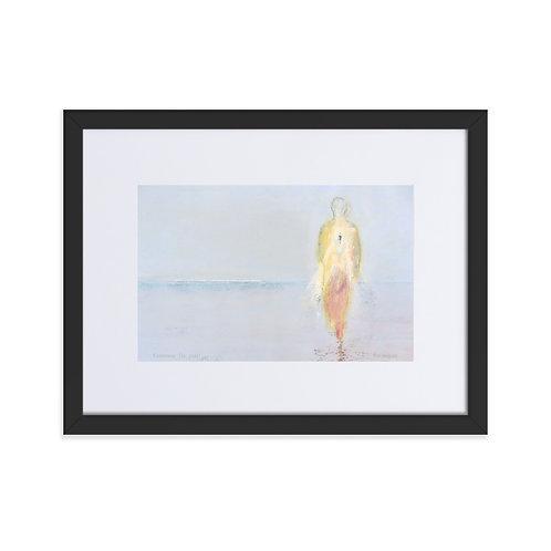 'Recuerda la perla', impresión mate enmarcada con paspartú (marco 30x40cm)