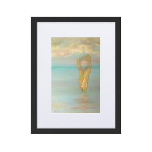 'Moon Buddha' framed matte print with mount (30x40cm frame)