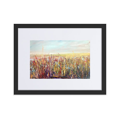 'Albufera Winter Light' framed matte print with mount (30x40cm frame)