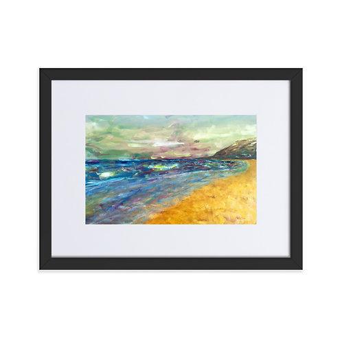 'El Dosel 1' framed matte print with mount (30x40cm frame)