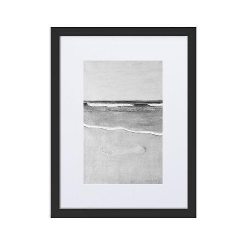 'La libertad', impresión mate enmarcada con paspartú (marco de 30x40cm)
