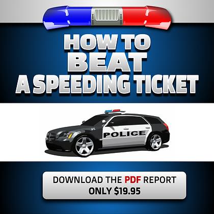 How to Beat a Speeding Ticket