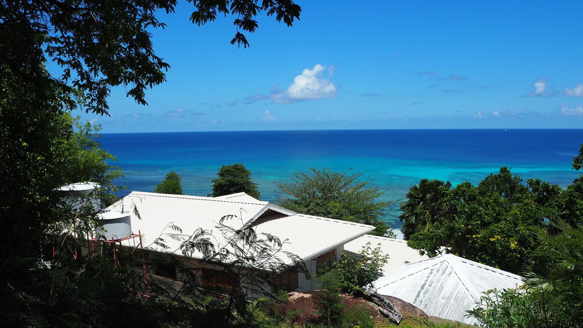 View from above Bijou Villa