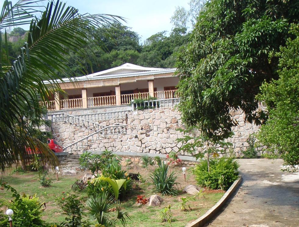 Bijou Villa, 2016. Before tropical garden was fullz mature