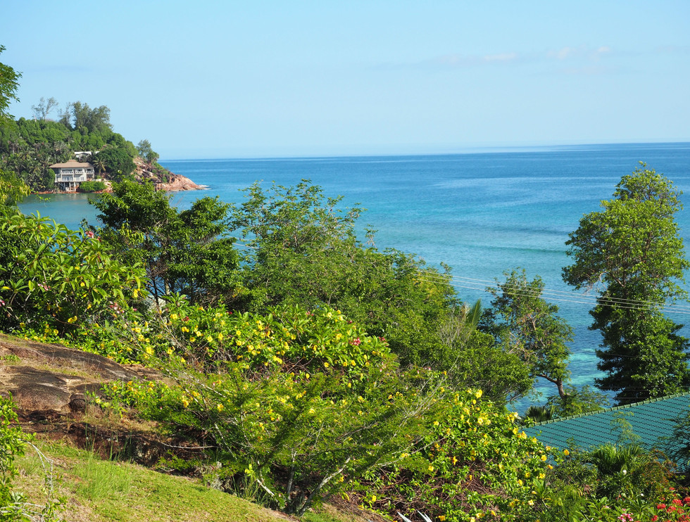 Beautiful view accross Anse La Blague from Master Bedroom