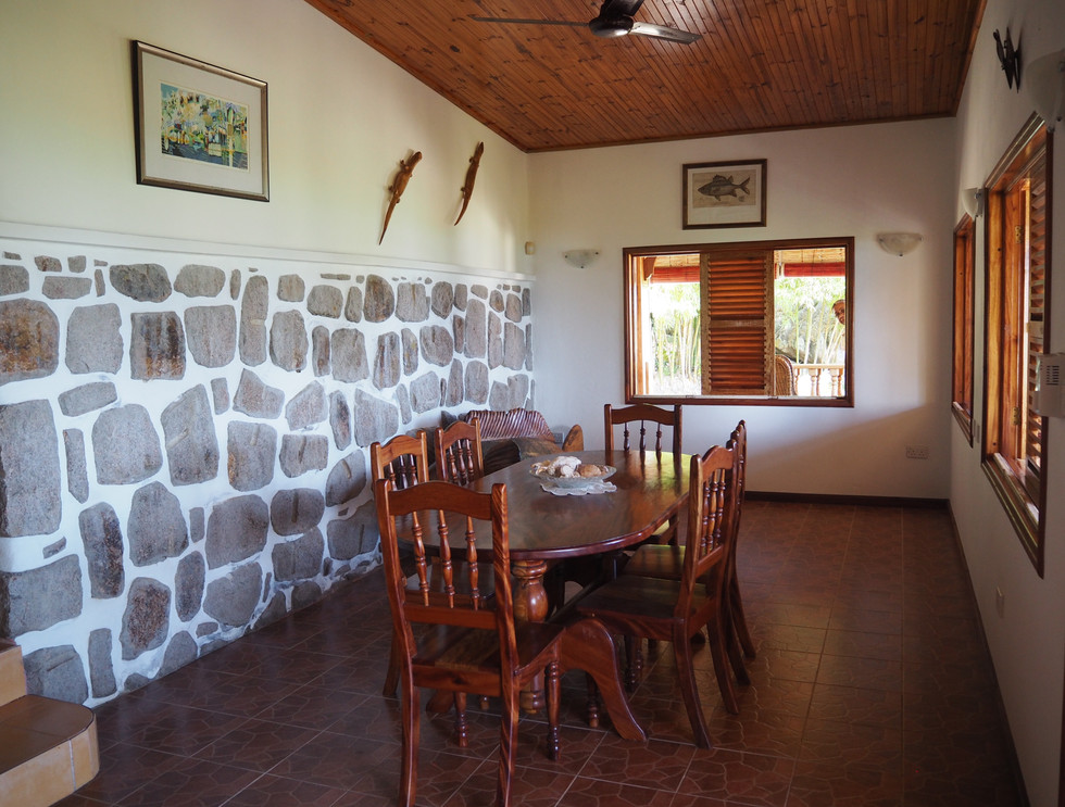 Dining room with space for living area
