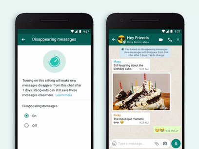 Introducing disappearing messages on WhatsApp