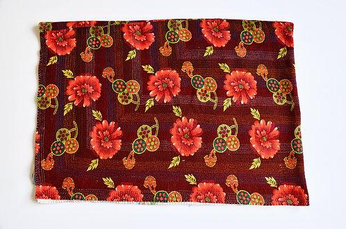 Floral Handstitched Ralli Quilt - Pakistan