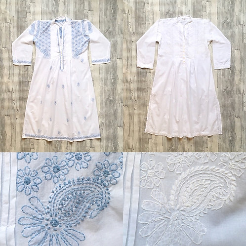 Hand Embroidered Cotton Nightdress