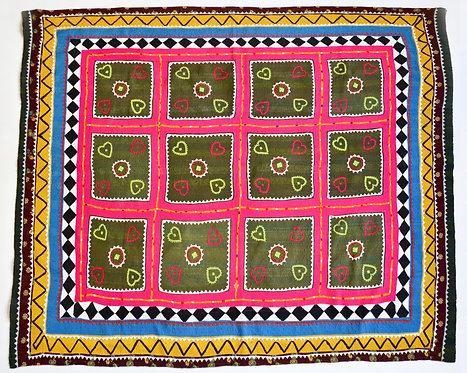 Heart Applique Vintage Ralli -Pakistan.