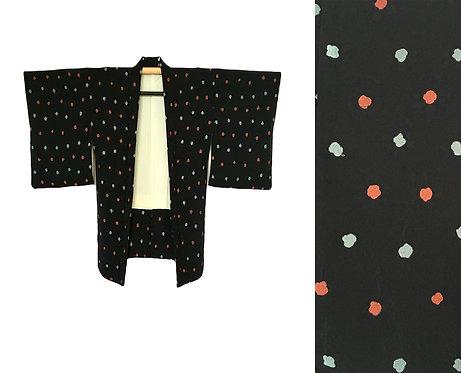 Vintage Black Silk Haori