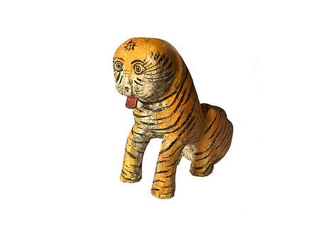 Antiqued Wooden Tiger