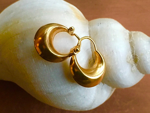 Mini Cashew Hoops