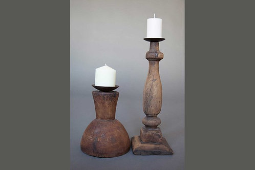 Rustic Wooden Candle Sticks