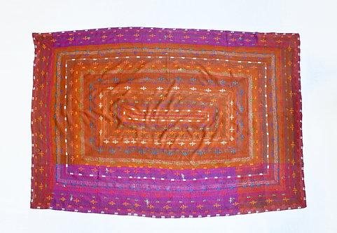 Purple and Brown Vintage Pakistani Quilt