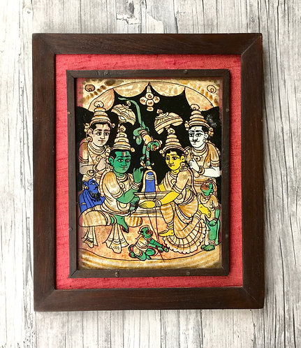 Vintage Reverse Glass Painting - South India