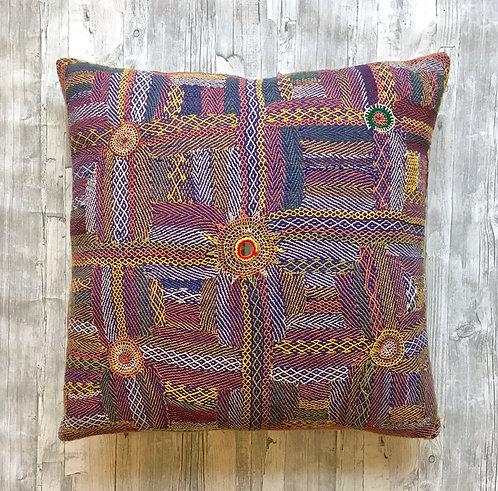 Banjara Tribe -Hand-Stitched Cushion Large