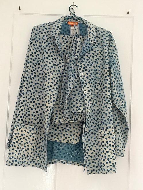 Cotton Pyjamas- Indigo Heart