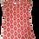 Thumbnail: Pretty Cotton Draw String Nighty - Red Mosaic