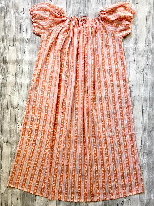 Mexican Nighty -Peach Stripe