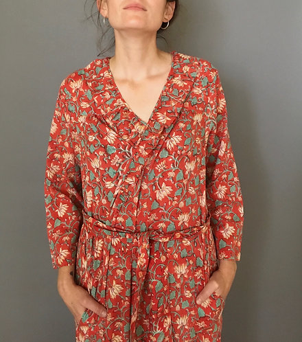 Floral Block Printed Robe