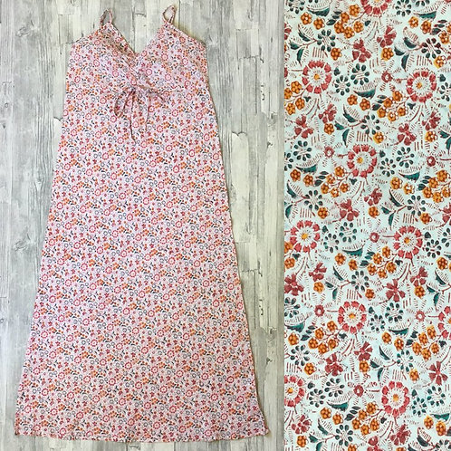 Long Strappy Night dress : Pretty floral