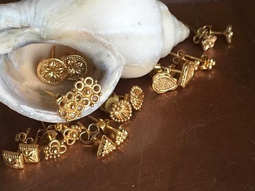 Pretty Gold  Ornate Studs -Page 1