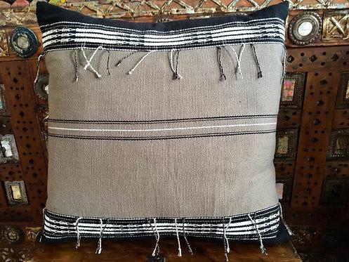 Cotton Handwoven Naga Cushion -Grey