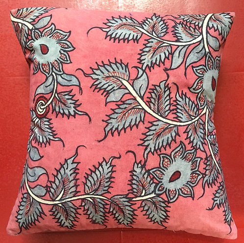 Hand Painted Kalamkari Cotton Cushion