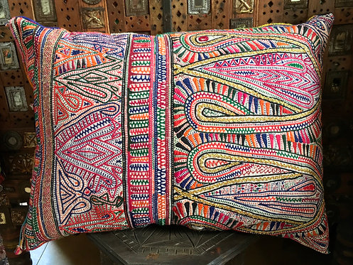 Vintage Rabari Grain Bag Cushion