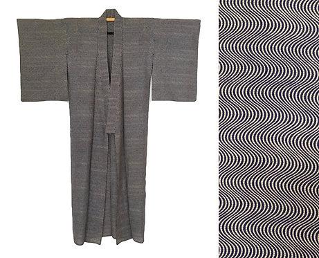 Vintage Silk Optical Kimono