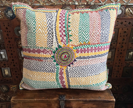 Hand Embroidered Multi Colour Banjara Cushion