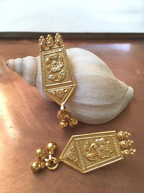 Ornate Indian Post Earrings